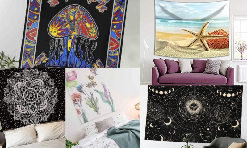 Psychedelic Duvar Örtüsü ile Renklenin